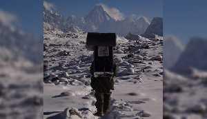 Вид на Сияющую (Западную) стену Гашербрума. Польская зимняя экспедиция на К2. Фото Wyprawa na K2