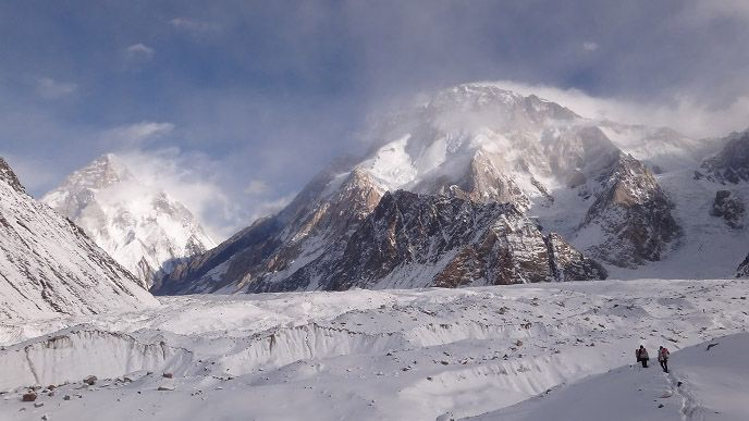 Треккинг через ледники Конкордия. Польская зимняя экспедиция на К2. Фото Wyprawa na K2