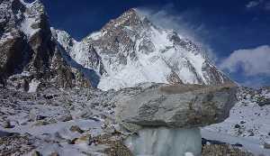 Вид на Южную стену К2 от ледника Годвин Остин. Польская зимняя экспедиция на К2. Фото Wyprawa na K2