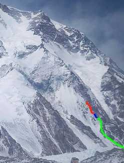 Зимняя польская экспедиция на К2: выход на отметку 5900 метров