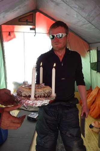 "День рождения Томаша ""Томек"" Мацкевича в минувших экспедициях на Нангапарбат. Фото Tomasz Mackiewicz"
