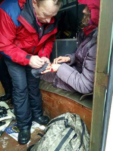 Спасоперация в районе горной долины Рогнеска. Фото ДСНС України