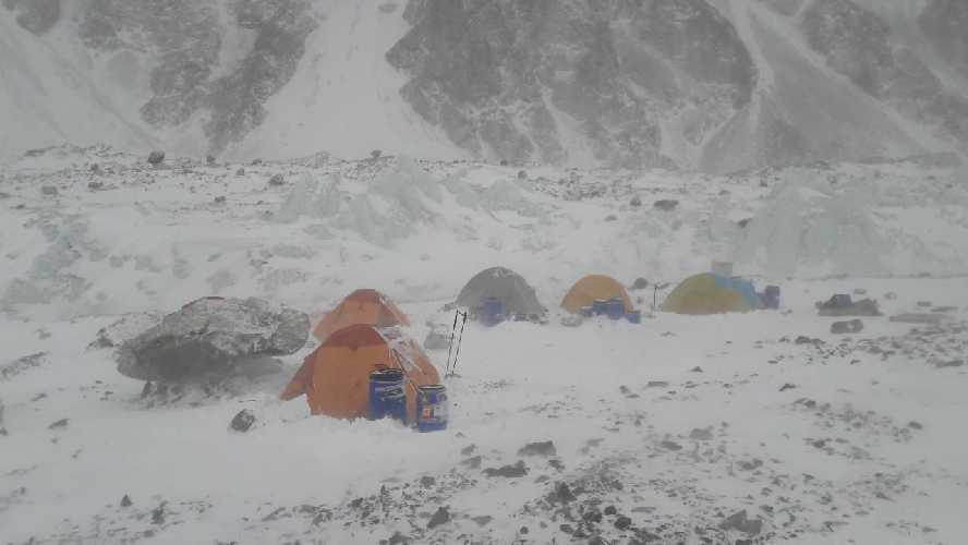 Базовый лагерь К2. Фото полькой экспедиции, январь 2018
