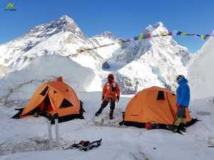 Зимняя экспедиции на Эверест: провешены перила до 7900 метров!