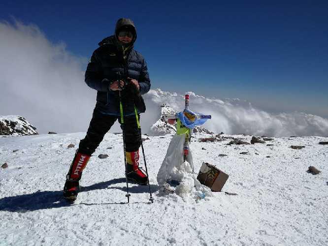 Александр Коваль на вершине Аконкагуа, январь 2018 года