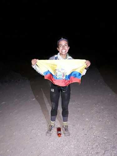 """Даниэла Сандовал (Daniela """"Dani"""" Sandoval), после утановления рекорда женского скоростного восхождения на Аконкагуа"""