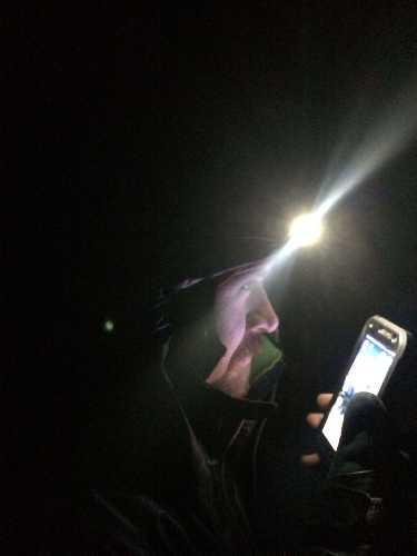 Ночью было время только на одно фото. Один из сеансов связи. Фото Горон Владимир