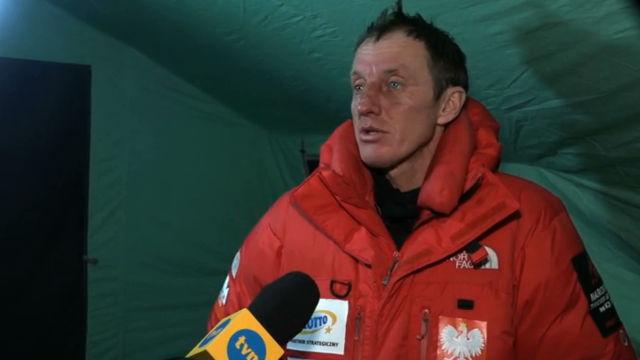 Денис Урубко в базовом лагере. Интервью для TVN24
