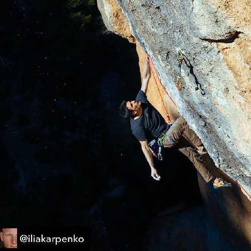 """Джерард Рул (Gerard Rull)  на маршруте """"La Rambla"""" 9а+. Фото Илья Карпенко"""