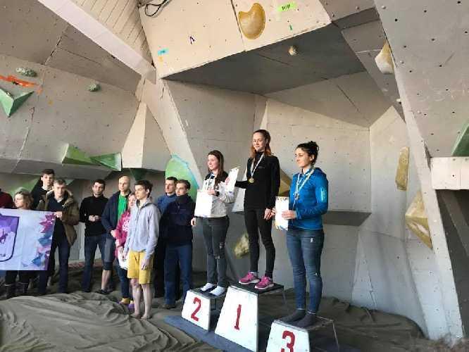 Победители студенческого Чемпионата Украины по скалолазанию 2018 года в Кривом Роге. Фото Маргариты Захаровой