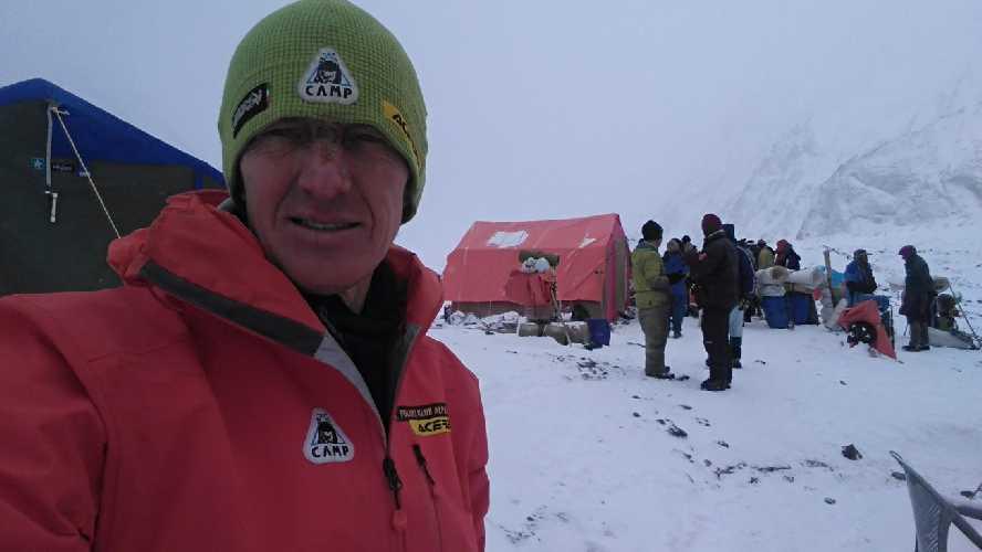 Денис Урубко. Прощание с базовым лагерем К2. 28 февраля 2018 года. Фото  Денис Урубко