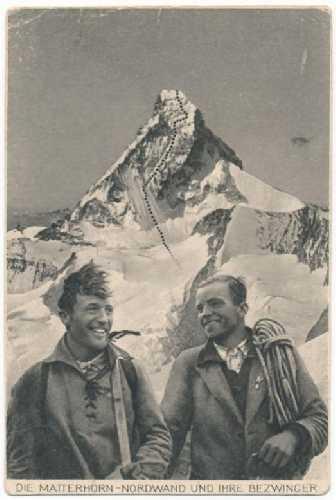 Франц Шмид (Franz Schmid) и Тони Шмид (Toni Schmid) и их легендарный маршрут по северной стене Маттерхорна