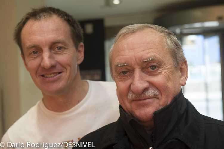 Денис Урубко и Кшиштоф Велицкий (Krzysztof Wielicki) в 2013 году