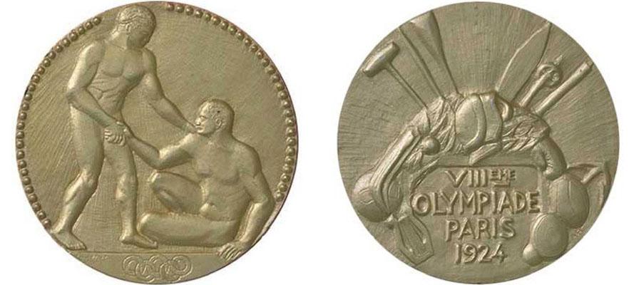 Вот такие медали получили участники британской экспедиции на Эверест на первых зимних Олимпийских Играх