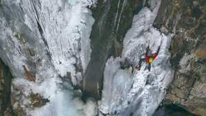 Замёрзшие ледопады вокруг Алматы