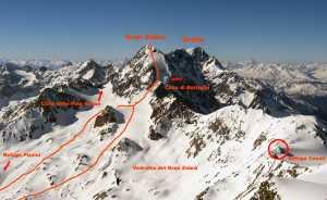 Два альпиниста погибли и один тяжело ранен при восхождении на вершину итальянской горы Гран Зебру