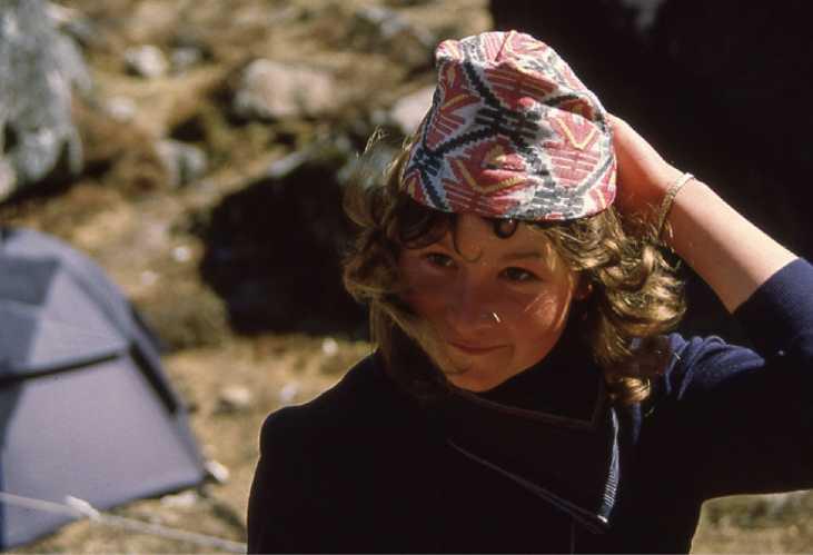 Элисон Харгривз (Alison Hargreaves) в Гималаях в 1986 году
