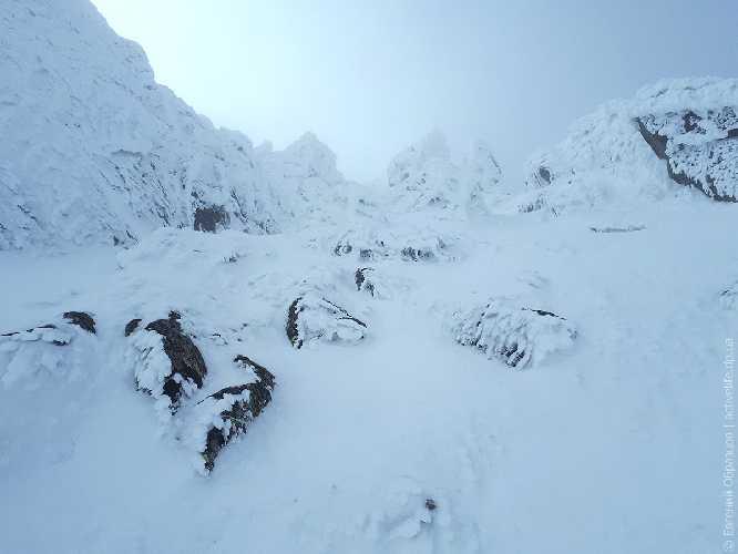 Патагонский снег у вершины Высокой. Фото Евгений Образцов