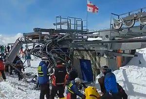 Трагедия в Гудаури: на горнолыжном подъемнике травмировались десятки туристов