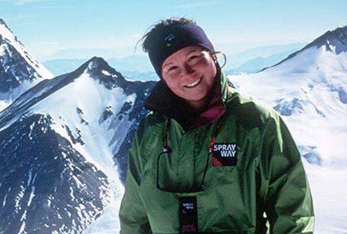 Элисон Харгривз (Alison Hargreaves) перед экспедицией на Эверест