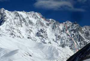 Новый маршрут и первое зимнее восхождение по южной стене Шхары от грузинских альпинистов