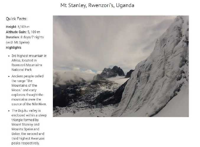 Пик Стенли (Mount Stanley, 5109 м)