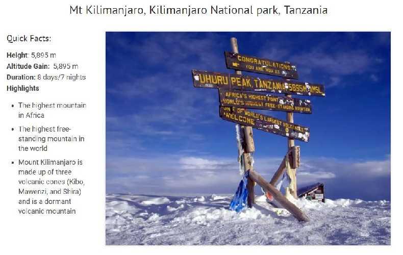Килиманджаро ( Mount Kilimanjaro 5895 м)