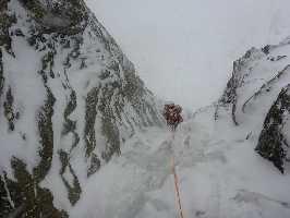 Новый маршрут на вершину горы Шхара по южной стене. Фото Арчил Бадриашвили