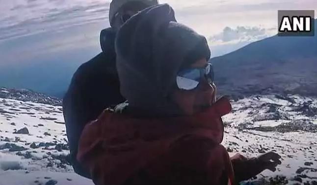 Саманью Потхураджу (Samanyu Pothuraju) на Килиманджаро. Фото ANI
