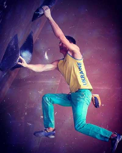 Сергей Топишко на первом этапе Кубка Мира по скалолазанию 2018