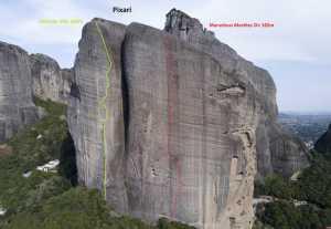 Новые скалолазные маршруты в Метеорах