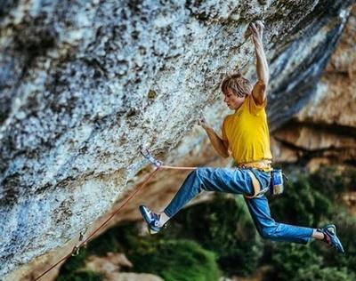 Александр Мегос стал третьим скалолазом в мире, кто смог пройти сложность 9b+,открыв маршрут