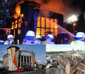 В Германии полностью сгорел один из крупнейших скалодромов страны
