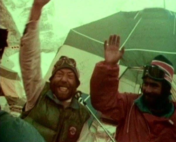 С.И. Бершов и М.М. Туркевич после восхождения на Эверест в 1982 году