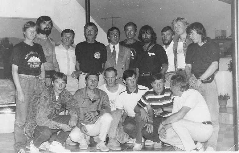 Участники советской экспедиции на Лхоцзе. 1990 год