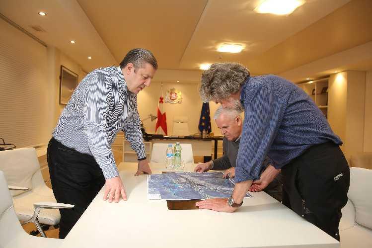 Райнхольд Месснер (Reinhold Messner) на встрече с  премьер-министром Грузии Георгием Квирикашвили. Фото government . ge