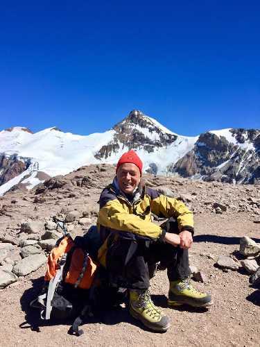 Сергей Бершов во время восхождения на Аконкагуа. 2017 год