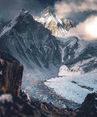 Закат над Эверестом. Фото K.Punkka
