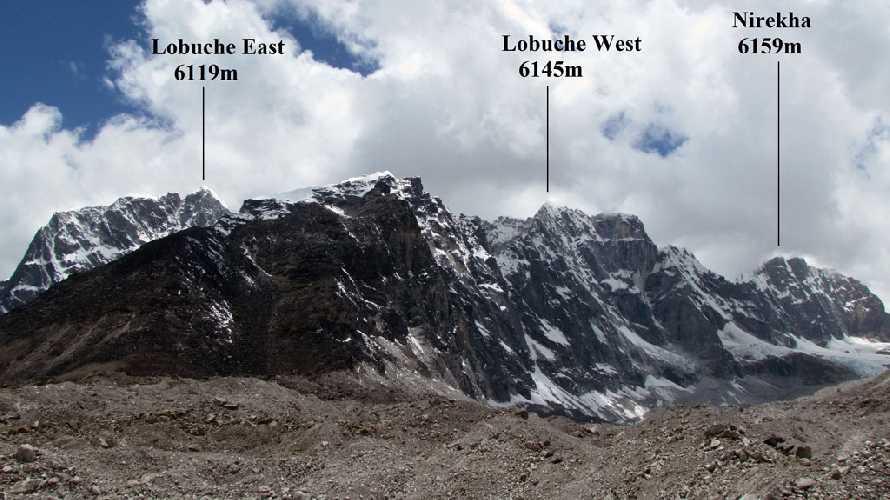 Лобуче Восточная, Лобуче Западная, Нирекха. Фото nepal-travel . ru