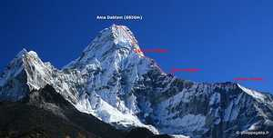 При восхождении на непальскую вершину Ама-Даблам погиб альпинист из Малайзии