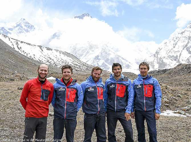 команда военизированного армейского горного подразделения Groupe Militaire de Haute Montagne (GMHM). Фото GMHM