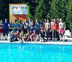 В Харькове состоялся второй фестиваль скалолазания над водой