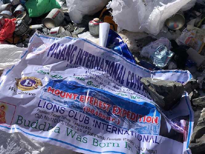 Мусор на Эвересте. май 2018. Фото David Liaño Gonzalez