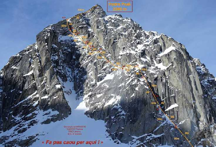 Новый французский маршрут на вершину горы Гидра (Hydra). Фото Matthieu Rideau