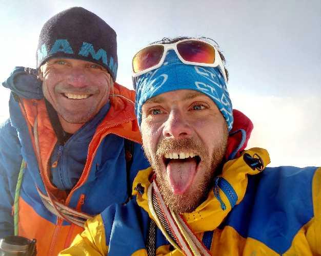Марек Холечек (Marek Holeček) и Зденек Хачек (Zdeněk Háček Hák) на вершине Киязо Ри (Kyazo Ri) . Фото  Márek Holeček