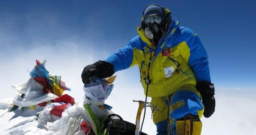 Валентин Сипавин на вершине Эвереста