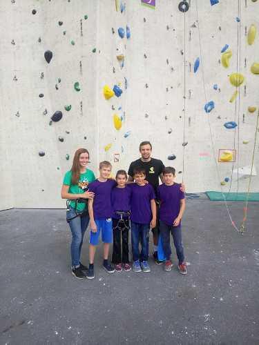 Харьковская команда на детских соревнованиях  «Youth Color Climbing Festival 2018». Фото Клуб Скалолазания Format