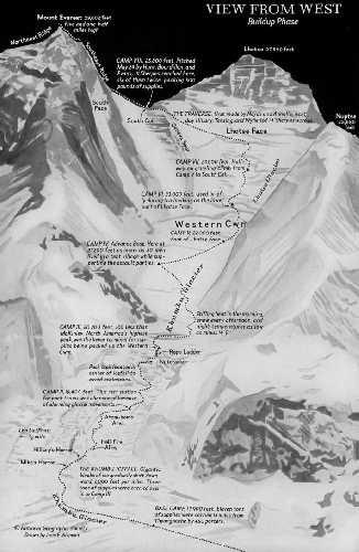 Маршрут первого восхождения на Эверест. 29 мая 1933 года. Фото National Geographic