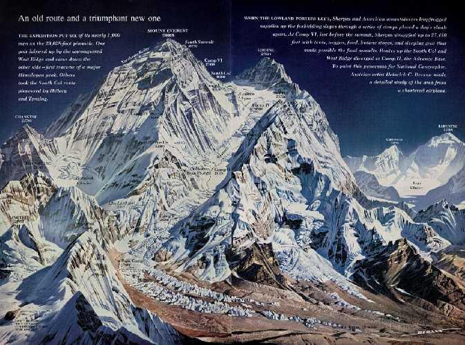 Первый американский маршрут на Эверест, 1963 год. Фото National Geographic