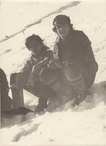 1971, Говерла. Игорь Шарабура и Сергей Герман. Фото из архива Сергея Германа